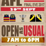 OPEN GRAND FINAL HOLIDAY
